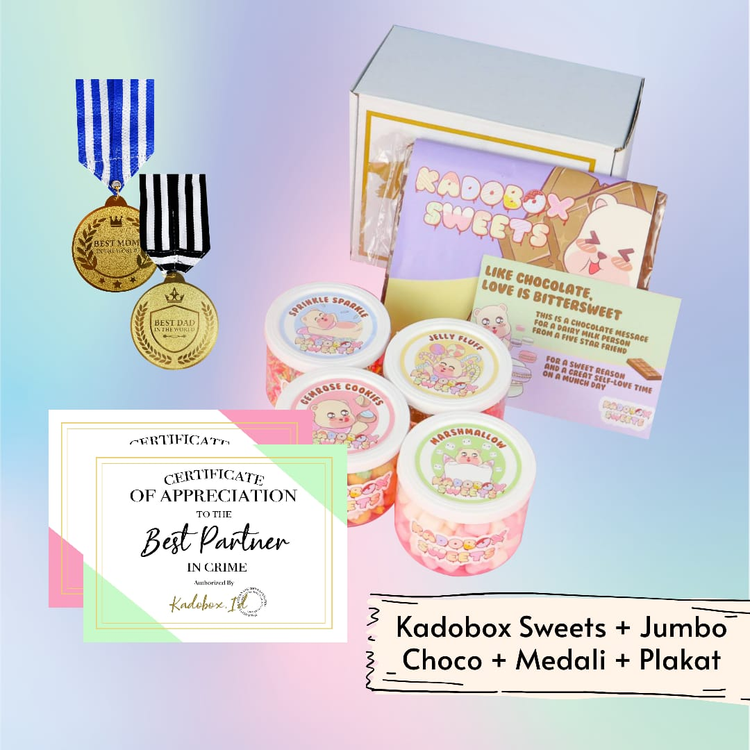 KADOBOX SWEETS + CHOCHOBAR + MEDALI PLAKAT