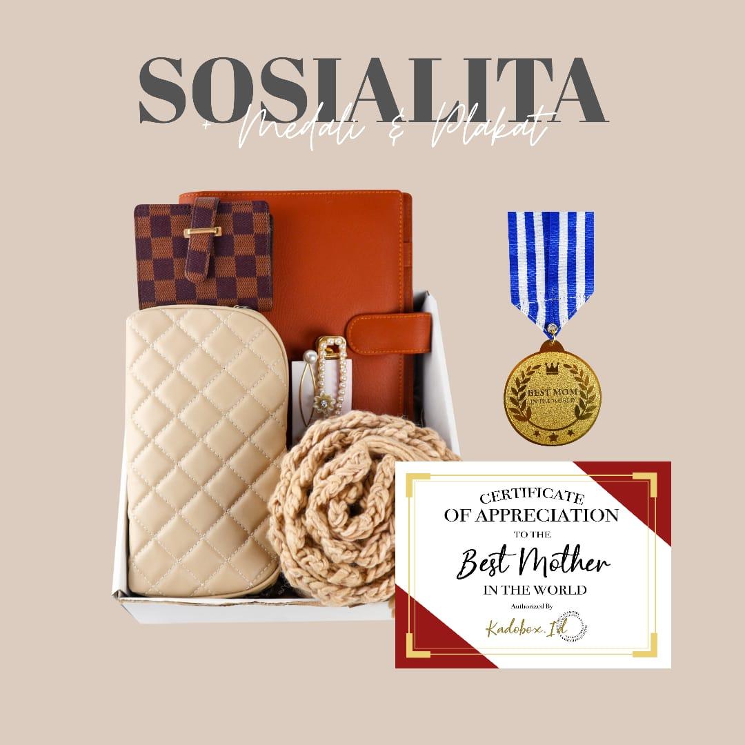 Kadobox Sosialita Medali Plakat